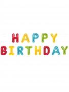 Guirlande de ballons aluminium lettres Happy Birthday 2,74 m