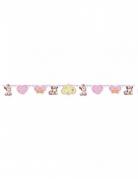 Guirlande en carton bébé Minnie™ rose 150 x 13 cm