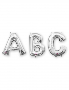 Ballon aluminium lettre argentée 86 cm