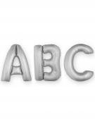 Ballon aluminium lettre argentée 1m