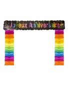 Décoration de porte Joyeux anniversaire chic 114 x 18,7 x 250 cm