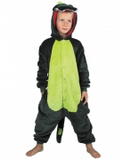Déguisement combinaison dino vert enfant