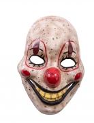 Masque clown de l'horreur avec mandibule mobile en plastique adulte