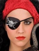 Cache oeil pirate avec crane adulte