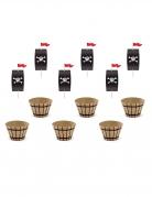 Kit à cupcake fête de pirate 4,8 x 7,6 x 4,6 cm - 20 cm