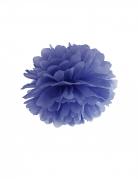 Pompon à suspendre en papier bleu marine 35 cm