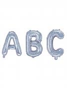 Ballon en aluminium lettre iridescent 35 cm
