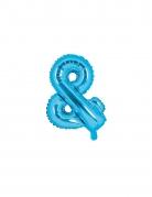 Ballon en aluminium & bleu 35 cm