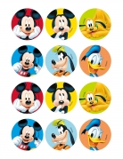 12 Décorations en azyme pour biscuits Mickey et ses amis™ 6 cm