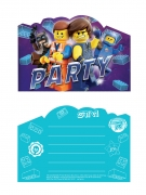 8 Invitations et enveloppes La Grande Aventure Lego 2™