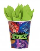 8 Gobelets en carton Le Destin des Tortues Ninja™ 266 ml