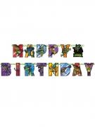 Guirlande en carton Happy Birthday Le Destin des Tortues Ninja™ 200 x 15 cm