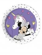 8 Petites assiettes en carton Minnie et la licorne™ 20 cm