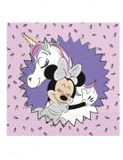 20 Serviettes en papier Minnie et la licorne™ 33 x 33 cm