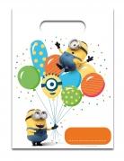 6 Sacs cadeaux Minions ballons party™ 23 x 17 cm