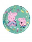 8 Petites assiettes en carton Peppa Pig™ 20 cm