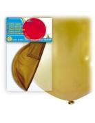 Ballon géant en latex doré 80 cm