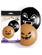 Vous aimerez aussi : 4 Ballons géants en latex halloween oranges et noirs 47 cm