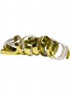 2 Rouleaux de serpentins doré métallique 4 m
