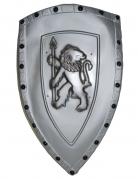 Bouclier gris lion plastique 72 x 42 cm