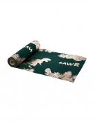 Chemin de table en lin vert et or dinosaure 28 cm x 5 m