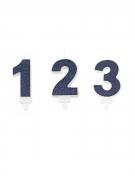 Vous aimerez aussi : Bougie avec bobèche chiffre paillettes bleue marine 7,3 cm
