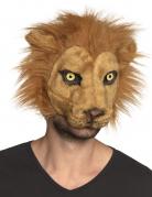 Masque lion peluche adulte