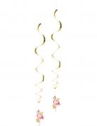 2 Décorations à suspendre Flamant Tropic 85 cm