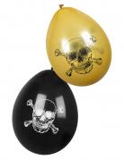 Vous aimerez aussi : 6 Ballons Pirate Jolly Roger noir et doré 25 cm