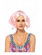 Perruque luxe courte rose femme