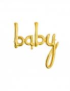 Ballon aluminium baby doré 73 x 75 cm