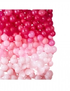Fond décoratif 210 ballons en latex ombrés roses 200 x 200 cm