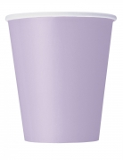 14 Gobelets en carton lavandes 266 ml