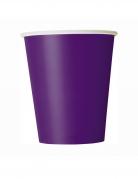 8 Gobelets en carton violets foncés 266 ml