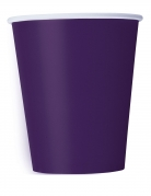 14 Gobelets en carton violet foncé 266 ml