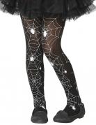 Collant toile d'araignée noir et blanc enfant