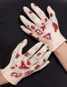 2 Mains de zombie en latex adulte