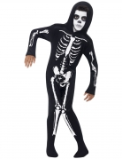 Déguisement squelette combi noir enfant