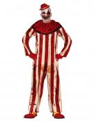 Déguisement clown terrifiant rouge et blanc homme