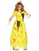 Déguisement princesse zombie jaune fille