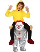 Déguisement à dos de clown psychopathe enfant