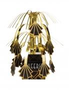 Centre de table cascade années 20 noir et doré 23 cm
