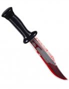 Couteau assassin ensanglanté 33 cm