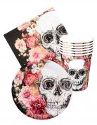 Vous aimerez aussi : Kit vaisselle jetable Dia de los muertos 6 personnes