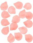100 Pétales de rose tissu saumon 5 cm