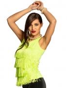 Débardeur à franges vert fluo femme