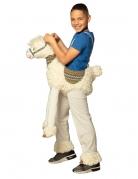 Déguisement à dos de lama blanc enfant