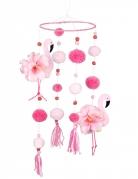 Vous aimerez aussi : Suspension flamant rose avec pompons roses 60 x 16 cm