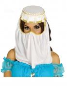 Coiffe princesse orientale blanche femme