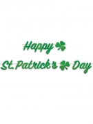 Guirlande happy St Patrick's day 2 m